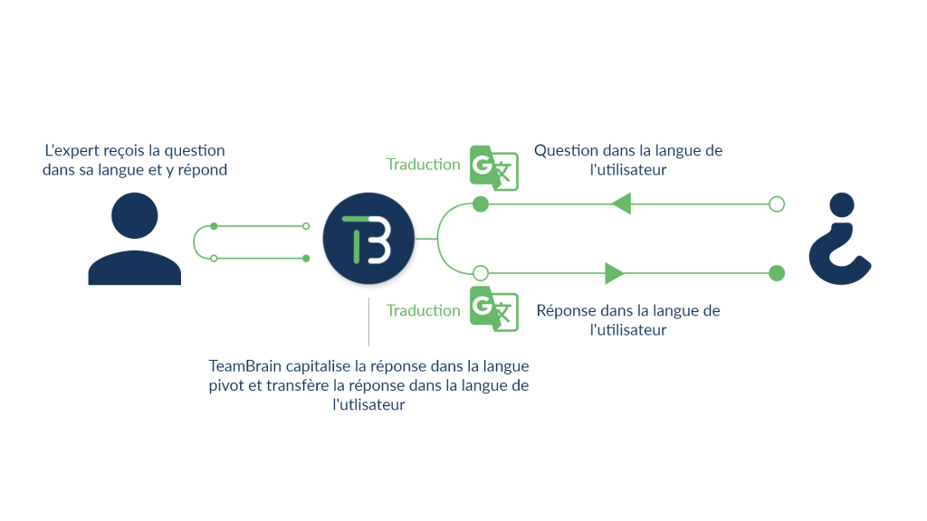 Multilingual module process scheme with the intervention of an expert