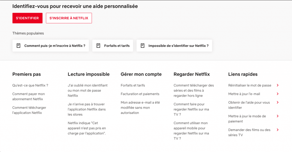FAQ Netflix